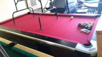 coin up pool table